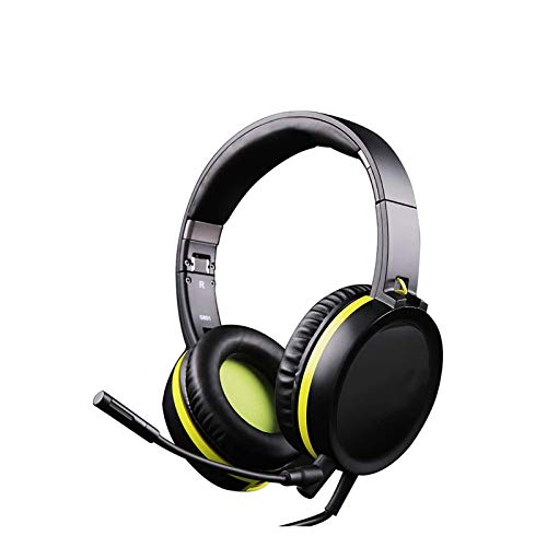 GR-Furniture PS4 Gaming Headset, 3.5Mm Audio Interface, Wired PC Stereo Foldable Headphones with Pluggable Microphone for Computer Laptop Tablet Gamer