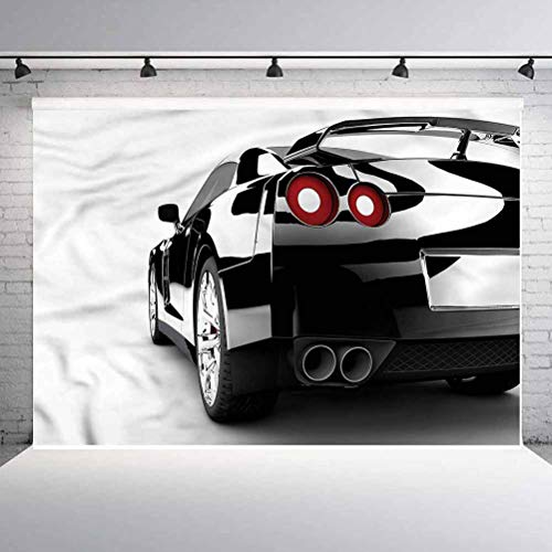 10x10FT Vinyl Backdrop Photographer,Cars,Strong Engine Modern Auto Background for Baby Birthday Party Wedding Studio Props Photography