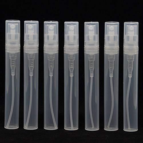 WBFN 7pcs / lot Leeg 2 ml 3 ml 4 ml 5 ml mini plastic spuiten parfumfles, kleine promotie monster parfumverstuiver (Color : Clear, Material : Plastic)