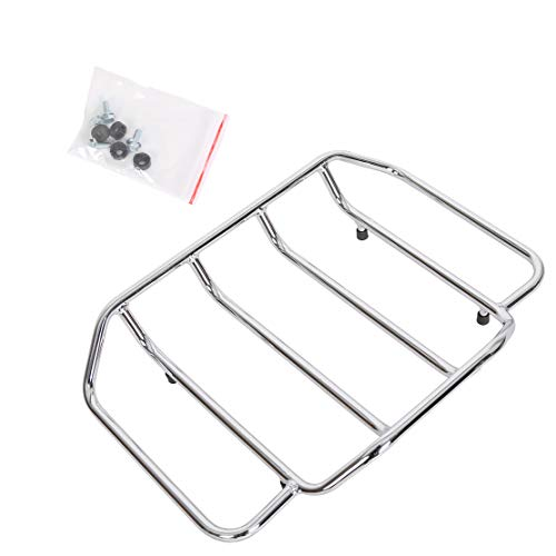 ECOTRIC Chrome Motorcycles Trunk Luggage Rack Rail for 1984-2020 Harley Touring Road King Street Glide Road Glide (Replaces # 53665-87)