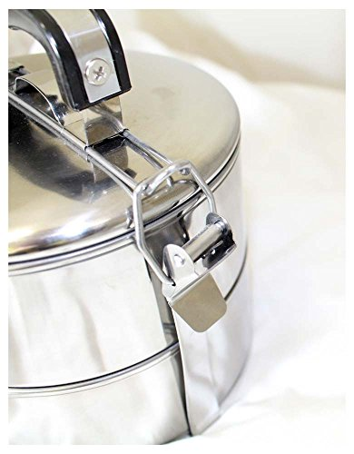 inEdge Stainless Steel Lunch Bowl Tiffin Set with 2 Tiers