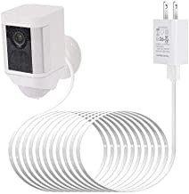 Power Adapter for Ring Spotlight Cam Battery, with 25Ft/7.5m Weatherproof Outdoor Cable to Continuously Charge Your Home Security Camera, No Need to Change The Batteries(White)