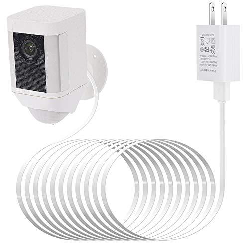 UDILO - Adaptador de corriente para foco de anillo (batería de leva, con cable impermeable de 7,5 m para cargar continuamente tu cámara de seguridad en casa, sin necesidad de cambiar las pilas)