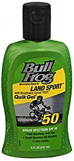 BullFrog Land Sport, Quik Gel Sunscreen SPF 50 5 oz (Pack of 6)