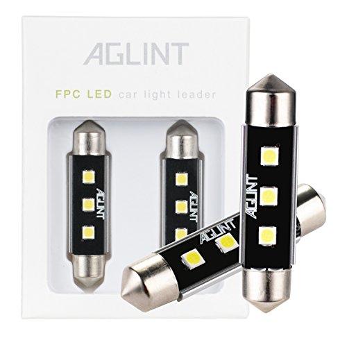 AGLINT C5W 42mm LED Bombilla CANBUS Festón 3030 3SMD Lampara Luz Interior de Coche Festón Lámpara Xenón Blanco 12V (42mm)