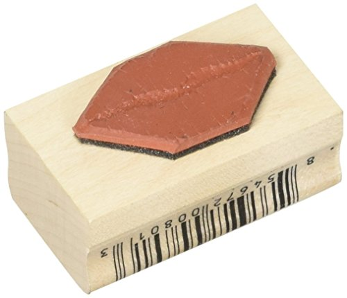 """Stamps by Impression Lips Kiss Rubber Stamp, 1"""" x 1.75"""""""