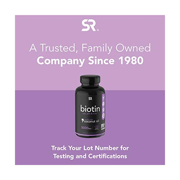 Beauty Shopping Biotin (2,500mcg) with Coconut Oil | Supports Healthy Hair, Skin & Nails in Biotin