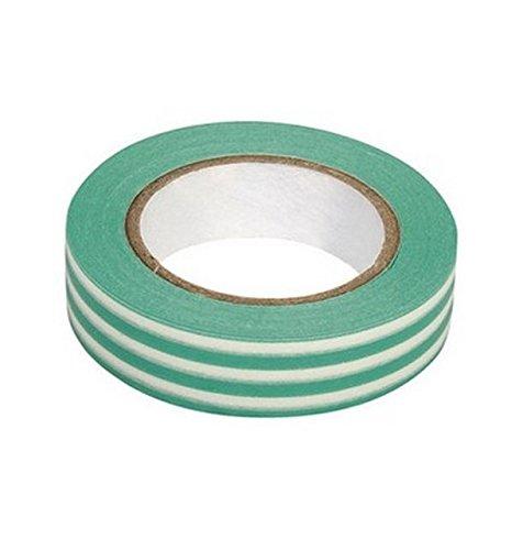 Ray - Washi tape à rayures turquoise et blanc