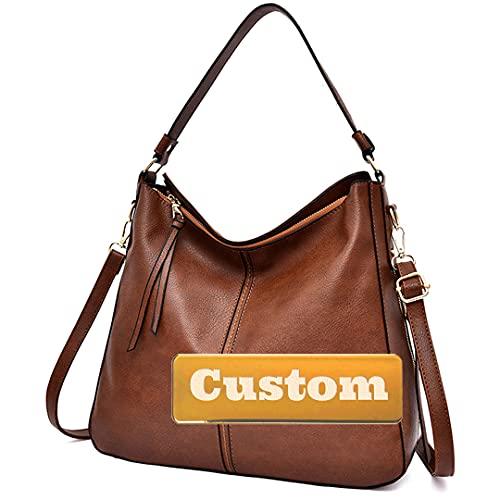 Nombre Personalizado Crossbody Monedero para Mujer Bolsa de Hombro Cuero Monedero Crossbody Casual (Color : Red, Size : One Size)