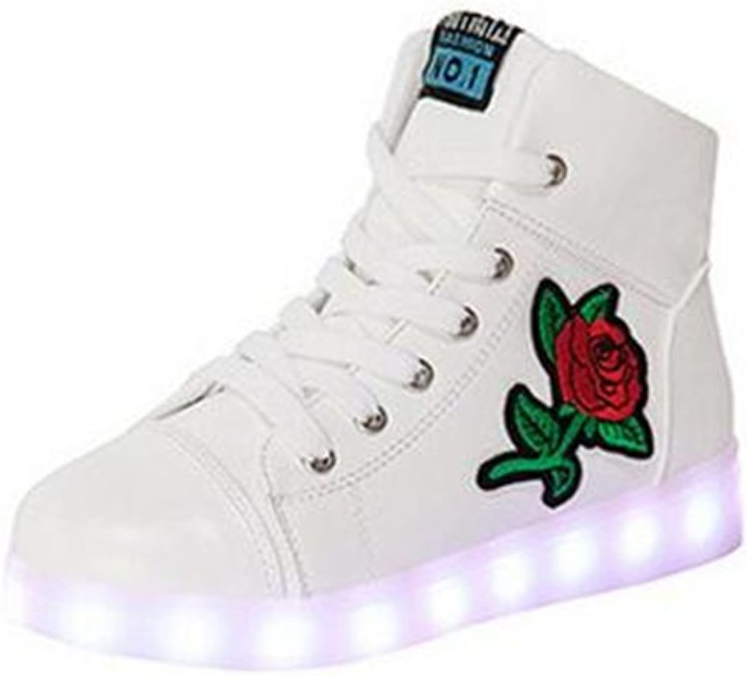 Southed Women's High-Top LED Light up shoes USB Charging Flashing Sneakers