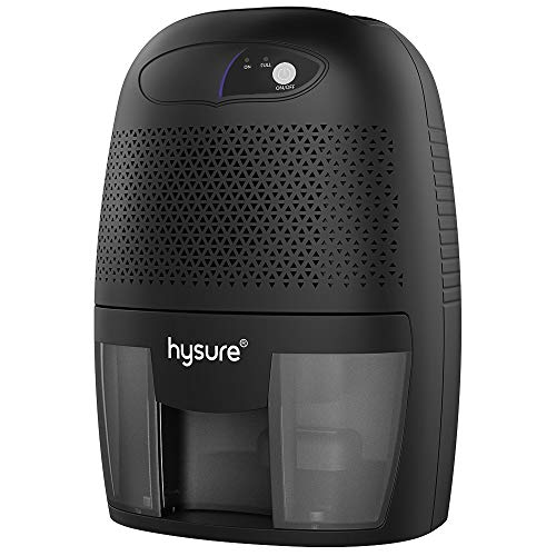 hysure Portable Mini Dehumidifier 2200 Cubic Feet Electric Safe Dehumidifier for Bedroom Home Crawl Space Bathroo RV Baby Room (Black)