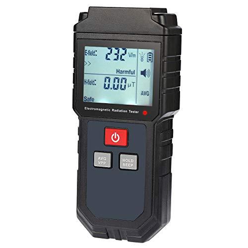 Seesii Misuratore portatile digitale LCD EMF Tester di radiazioni elettromagnetiche Rilevatore di dosimetro a campo magnetico a campo elettrico