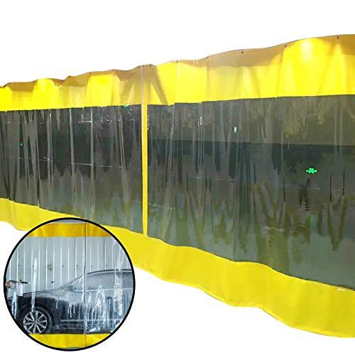 BAIYING-Lona Impermeable Al Aire Libre con Ojales, Cortina De Puerta Impermeable, Protección contra El Viento Y Los Rayos UV, PVC De 0,5 Mm, para Porche/Ventana De Comedor/Pérgola