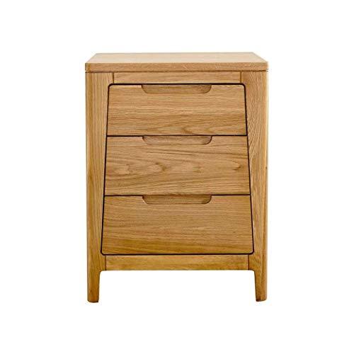 Decoración de muebles, mesita de noche de madera maciza, simple, pequeño apartamento, mesita de noche, armario, paquete estrecho, mesita de noche, mesa auxiliar para espacios pequeños, aspecto de m