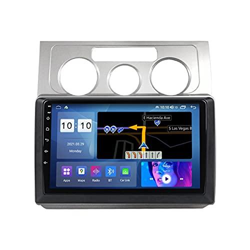 ADMLZQQ Autoradio Android 10 Radio Coche para Volkswagen Touran 2003-2010 Navegación GPS Soporta Control del Volante FM Manos Libres Bluetooth cámara de visión Trasera,B,M100S