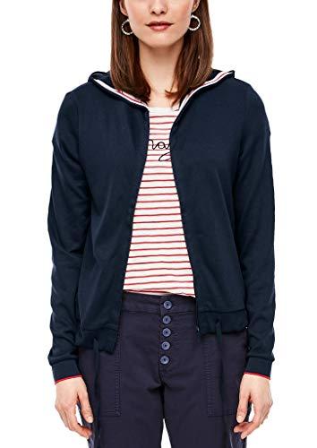s.Oliver Damen Sweatjacke Sweatshirt, 5959 Navy, 32