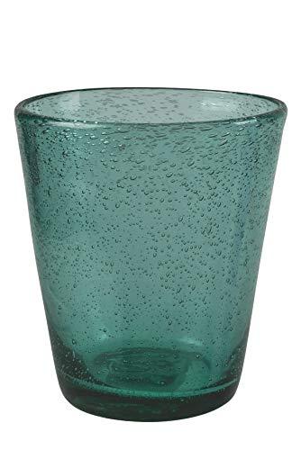 Villa d'Este Home Tivoli Cancun Satin Set Bicchieri Acqua, 6x330 ml, Verde (Foglia di tè), 6 unità