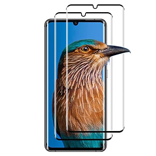 (2 Stück) Panzerglas für Xiaomi Mi Note 10/Note 10 Pro/Note 10 Lite, Fingerabdruck Schutzfolie, 9H Glasfolie, 3D Kratzfeste Bildschirmschutzfolie für Xiaomi Mi Note 10/Note 10 Pro/Note 10 Lite (Schwarz)