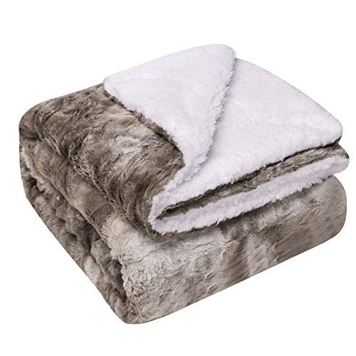 KILLM Heizdecke Doppeldecke Decke Flanell Fleece Decke Für Sofa Couch Warme Gemütliche Mikrofaser Wendeplüsch Weiche Warme Fuzzy-Decke 150 * 120 cm,A