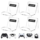 OAPRIRE Game Controller Wall Mount Holder Stand (4 Pack) for Xbox ONE PS4 PS5 STEAM Switch PC, Universal Gamepad Controller Accessories with 4 Cable Clips - Create Exclusive Game Fortresses - Clear