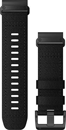 Garmin QuickFit 26 Watch Bands, Tactical Black Nylon