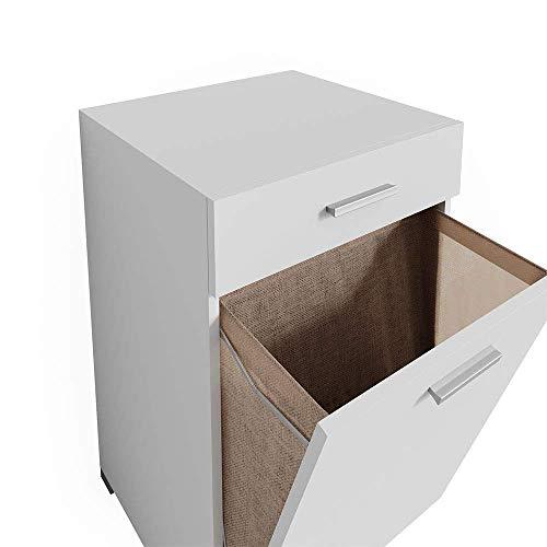 Vicco cesto para la Ropa Matteo Armario de baño Colada Armario XL Blanco