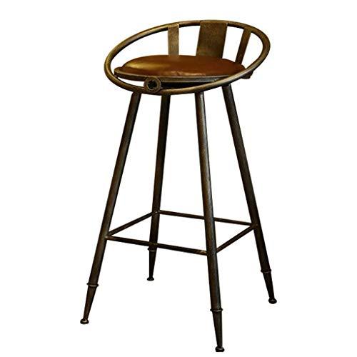 WWWWW-DENG barkruk hoge stoel van hout keuken kantoor Europese high kruk barkruk stoel retro leer home keuken hoog kruk barkruk kruk barkruk kruk barkruk