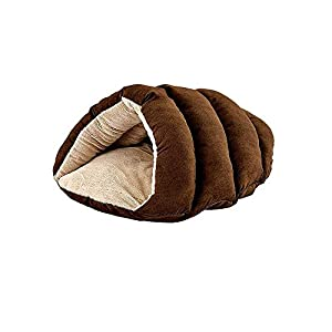 """SPOT Ethical Pets Sleep Zone Cuddle Cave – 22"""" Chocolate – Pet Bed for Cats and Small Dogs – Attractive, Durable, Comfortable, Washable, Cuddle Cave Pet Bed, 22×17"""