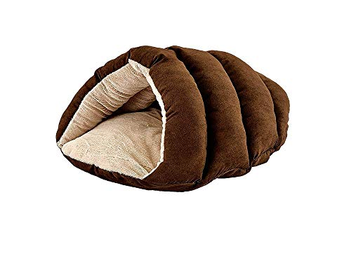 "SPOT Ethical Pets Sleep Zone Cuddle Cave - 22"" Chocolate - Pet Bed for Cats and Small Dogs - Attractive, Durable, Comfortable, Washable, Cuddle Cave Pet Bed, 22x17"