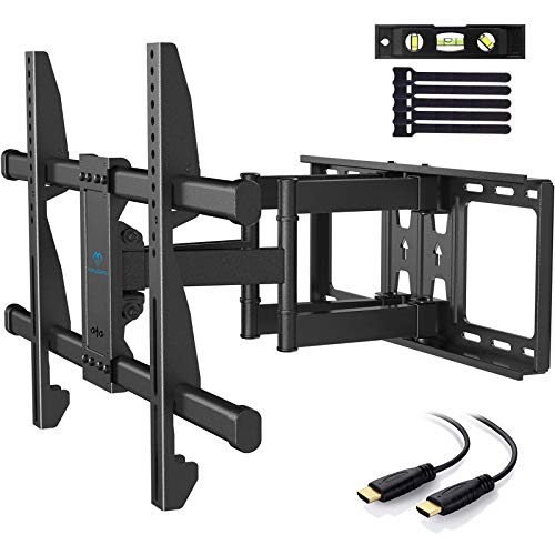 PERLESMITH TV Wall Mount Bracket Full Motion Dual Articulating Arm for Most 37-70 Inch LED, LCD, OLED, Flat Curved TVs up to 132lbs VESA 600×400 with Tilt, Swivel and Rotation - PSLFK1. Buy it now for 46.99