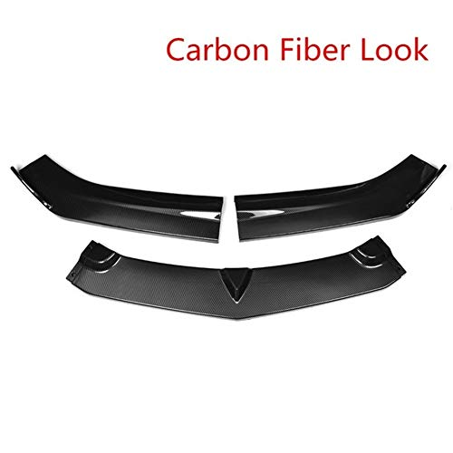 ROYAL Star TY 3Piece Autofrontlippe Chin Auto Splitter Spoilerlippe Splitters Body Kit Diffuser-Schutz-Schutz for Chevy Camaro for 2015-2018 (Color : Carbon Fiber Look)