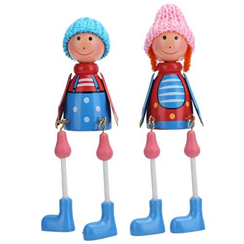 Marioneta de madera, muñecas de dibujos animados, decoración de mesa duradera, madera para regalo de fiesta, restaurante, cafetería, regalo de cumpleaños