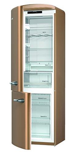 Gorenje ONRK 193 CO-L Kühl-Gefrier-Kombination / A+++ / Höhe 194 cm / Kühlen: 222 L / Gefrieren: 80 L / Braun / NoFrost / ZeroZone-Schubfach (0 Grad) / Oldtimer / Retro Collection