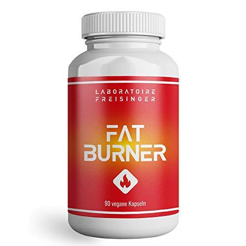 LABORATOIRE FREISINGER Fatburner Kapseln (90, 60g) mit L-Carnitin (thermogene Formel) - Abnehmen & Stoffwechsel anregen mit laborgeprüftem Nahrungsergänzungsmittel - Fettverbrenner extrem stark