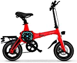 MQJ Ebikes Bicicletas Eléctricas Rápidas para Adultos Bici de Montaña Eléctrica Portátil de 14 Pulgadas para Adultos con Batería de Iones de Litio 36V E-Bike 400W Motor Potente Adecuado para Adulto