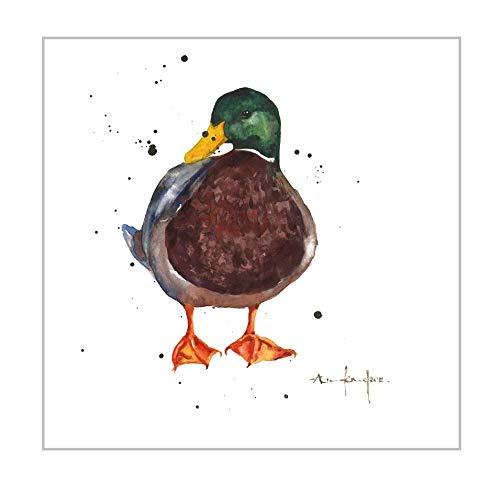 Mallard Chap Duck - Tarjeta de felicitación con sobre blanco, colección Alison Ark