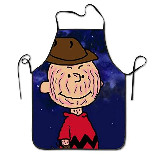 AOOEDM Charlie Brown Dark Night Cooking Hornear BBQ Delantales Unisex Babero de Cocina para cocinar jardinería, tamaño Adulto