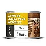 CERA DE ABEJA PARA MUEBLES. Protege, embellece y nutre la madera.(375 ml, INCOLORA)
