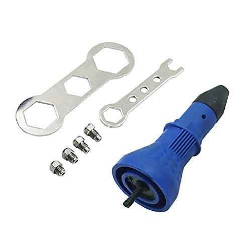 Sharplace Elektrische Nietzange Gun Stift Werkzeug Kit Elektro-Stift - Blau, 161x 58x 123mm