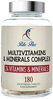 Rite-Flex, Integratore Alimentare Multivitaminico e Multiminerale con 24 nutrienti chiave (180 Compresse)