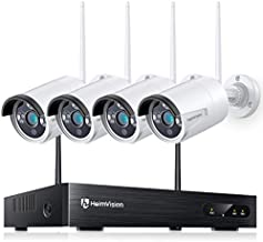 HeimVision 2K Wireless Security Camera System, 3MP 8CH NVR 4Pcs Home WiFi Security Camera Outdoor with Night Vision, Waterproof, Human Detection, One-Way Audio, Remote Access, No Hard Disk