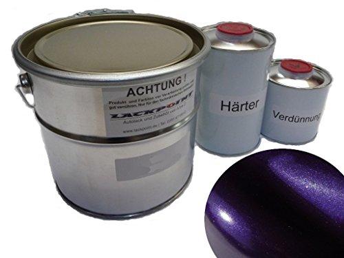 Lackpoint 1 Liter Set 2K Autolack Dream Violett Metallic kein Klarlack Trend