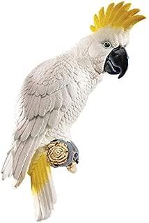 Design Toscano Citron Cockatoo Bird Tropical Decor Wall Sculpture, 14 Inch, Polyresin, Full Color