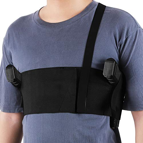 Accmor Shoulder Gun Holster, Elastic Underarm Deep Concealment Chest Holster for Men and Women, Right and Left Hand Draw