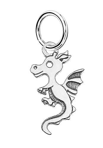 Massives Silber 925kleiner Drache Charm Anhänger passt auf Links of London Armband oder Halskette