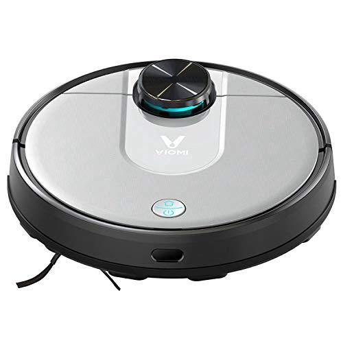 Viomi Robot Vacuum Cleaner V2 Pro Saug- und Wischroboter (Saugleistung 2100Pa, 120min Akkulaufzeit, 300ml Staub-/200ml Wasser-Kombitank, 69dB Lautstärke, Autom. Route, App-/Sprachsteuerung) Schwarz