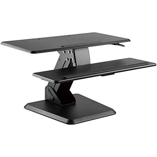 YO-TOKU Stand Up Desk verstelbare standaard Up Desk Sit Stand Desktop Computer Workstation Met Toetsenbord lade for pc computer Screen Keyboard Laptop (Kleur: Zwart, Maat: Een maat) Vouwtafels