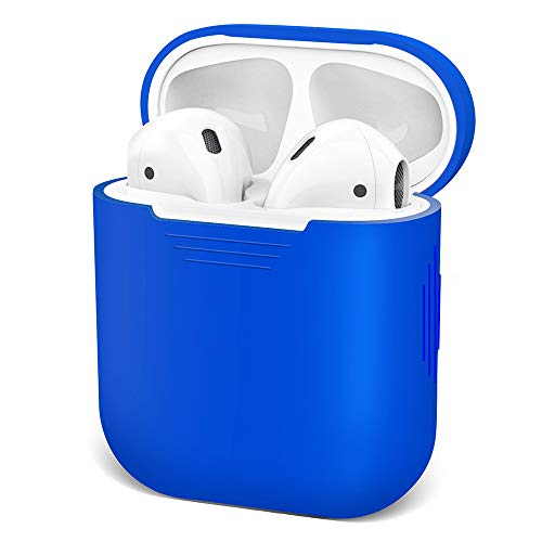 AirPods Case Airpod Case Cover Skins, iKNOWTECH for Apple AirPods Silicone Waterproof Case Shock Proof Protecitive Cover,Resistant Case for AirPods,iPhone X/XS/XR/X MAX7/7P/8/8P(Light Blue)