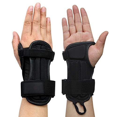 Leikance Handgelenkschoner, verstellbare Schutzausrüstung, Handgelenkstütze für Skaten, Skateboard, Motocross, Radfahren, 1 Paar