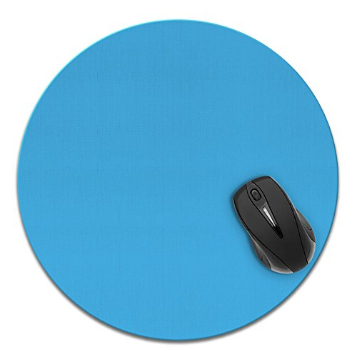 Super Size Round Mousepad, FINCIBO Large Mouse Pad for Home, Office and Gaming Desk, Solid Baby Blue